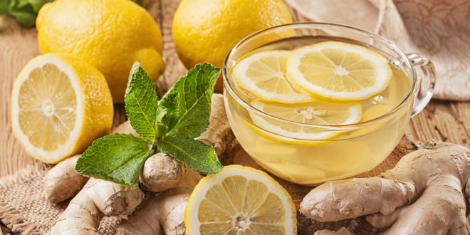 Lemon, ginger, and other digestive foods